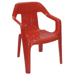 Childrens Plastic Chair - Red